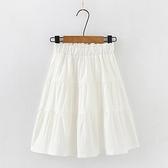 女童短裙 純棉短裙子2021夏季新款兒童半身裙夏天洋氣女孩純色大童半裙【快速出貨】