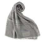 ARMANI Collezioni經典大字母LOGO流蘇披肩圍巾(灰色)102813-2