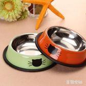 不銹鋼寵物碗加厚防滑貓碗狗碗寵物貓咪小狗單碗食具 SH517『美鞋公社』