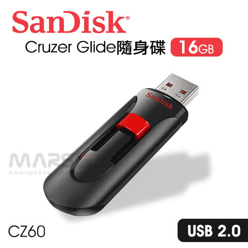 【marsfun火星樂】SanDisk 16G USB隨身碟 Cruzer Glide CZ60/OTG隨身碟/資料傳輸備份搬/PC/Mac適用