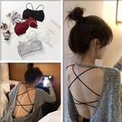 【Charm Beauty】纯棉 内衣 少女 學生 韓版 美背 裹胸 抹胸 文胸罩 吊帶 背心 透氣薄 女士 性感