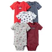 美國Carter's卡特童裝 男寶寶 短袖純棉活肩包屁衣 紅橫條【CA126G830】