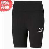 【現貨】PUMA Classics 女裝 短褲 緊身 7吋 休閒 訓練 印花 棉 歐規 黑【運動世界】53023401