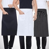 圍裙 酒店廚師男士半身圍裙餐廳廚房專用白色半截防水防油工作服圍腰女【快速出貨】