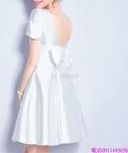 (45 Design)  客製化顏色尺寸新款禮服伴娘裙短款新娘伴娘晚宴年會演出婚紗小禮服8