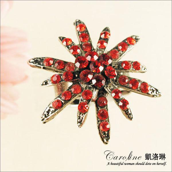 《Caroline》★韓國進口甜心可愛設計施華洛世奇水晶造型戒指【可調整型】39712