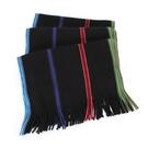 Paul Smith彩色條紋純棉圍巾(黑色) 130015