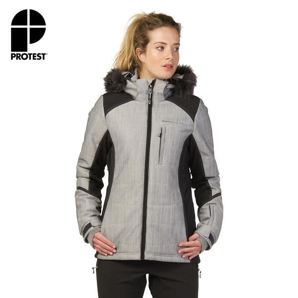 PROTEST 女 機能防水保暖外套 (真實黑) FORTALBANY SNOWJACKET