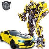 孩之寶變形金剛5玩具兒童感應充遙控汽車男孩擎天柱大黃蜂機器人