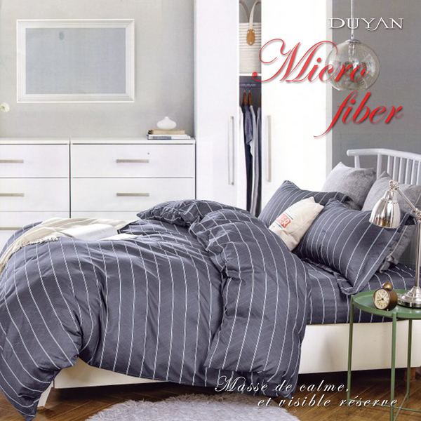 《DUYAN竹漾》天絲絨雙人加大四件式舖棉兩用被床包組-約書亞之諾