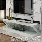 鋼化玻璃烤漆電視櫃茶幾組合客廳簡約現代小戶型迷你簡易電視機櫃YYJ   MOON衣櫥