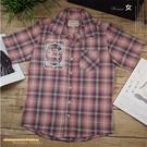 【大盤大】Fly well vintage 厚款 純棉襯衫 M號 短袖 女 格子襯衫 口袋 韓國製 專櫃 假日 約會