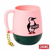 【日本製】CHUMS 露營野餐 圓桶馬克杯 粉紅/森林 (450ml) CH621047R038