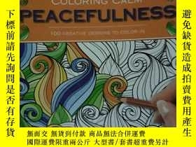 二手書博民逛書店colcring罕見calm peacefulness 100