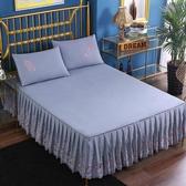 韓版公主床罩床裙式單件蕾絲花邊床單保護套天 超值價