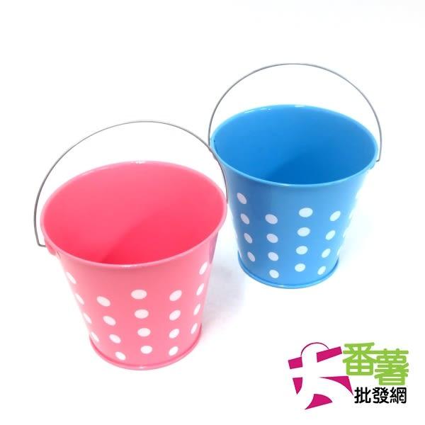 日系粉彩點點小鐵桶/收納盒 [29-1]- 大番薯批發網