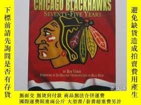 二手書博民逛書店CHICAGO罕見BLACKHAWKS SEVENTY-Five