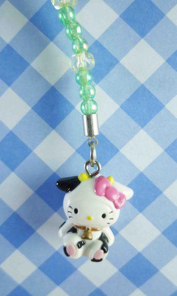 【震撼精品百貨】Hello Kitty 凱蒂貓~限定版手機吊飾-北海道(乳牛)