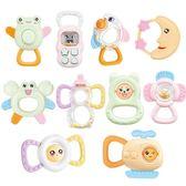 (交換禮物)手搖鈴手搖鈴嬰兒玩具0-3-6-12個月芽膠寶寶1歲2男女孩新生幼兒益智禮盒
