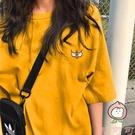 韓風半袖上衣小眾設計感女裝短袖t恤【桃可可服飾】