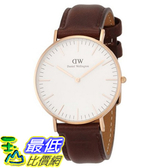[105美國直購] Daniel Wellington 0511DW Classic Bristol Analog Display Quartz Brown Watch 女士手錶