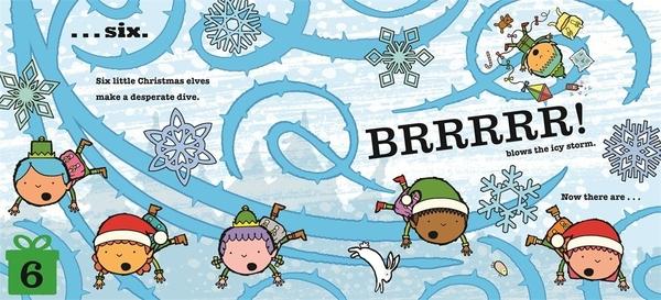 【麥克書店】TEN LITTLE ELVES /英文繪本《幽默. 聖誕節》