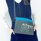 日系雜志款可愛貓咪多功能側背包多用途小物手機收納斜背包女 快意購物網