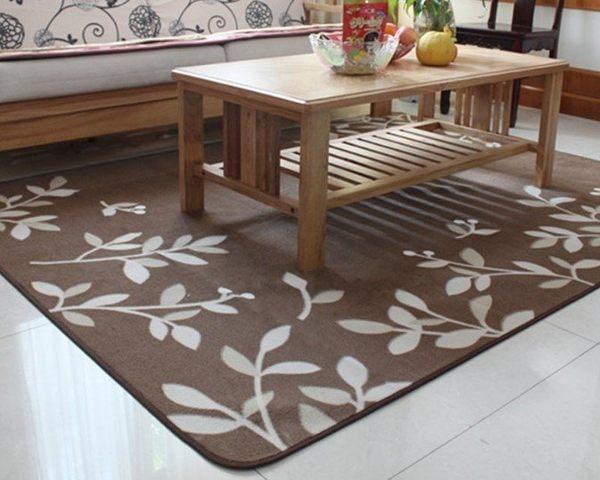 ☆歡樂寶貝商城☆ 170*220 CM 簡約花草風格 輕薄好整理 夏季圈絨地毯 客廳茶几大地毯