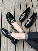 女鞋軟妹小皮鞋女韓版單鞋英倫百搭夏季粗跟厚底 港仔會社
