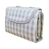 【Incare】防水收納摺疊便攜野餐墊(加大款/200x200cm)小綠格