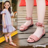 女童涼鞋 女童鞋涼鞋2018新款潮韓版夏季中大童女孩小高跟公主鞋兒童涼鞋女 Cocoa