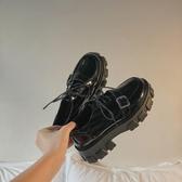 2019秋季韓版復古原宿厚底鬆糕鞋系帶女鞋日系皮帶扣軟妹小皮鞋潮