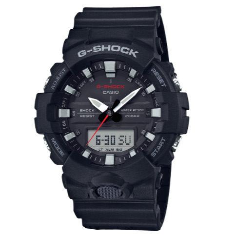 G-SHOCK GA-800-1A 絕對強悍 指針電子雙顯錶 多功能計時碼錶 男錶 黑色 GA-800-1ADR CASIO卡西歐