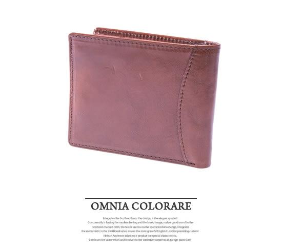 OMC - 原皮工藝薄型真皮上下翻11卡1照短夾
