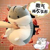 玩偶 倉鼠抱枕公仔玩偶毛絨玩具女生可愛超萌韓國搞怪睡覺抱女孩布娃娃 第六空間