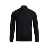 Asics [2011B219-001] 男 半襟 長袖 上衣 吸濕 排汗 快乾 運動 慢跑 訓練 亞瑟士 黑
