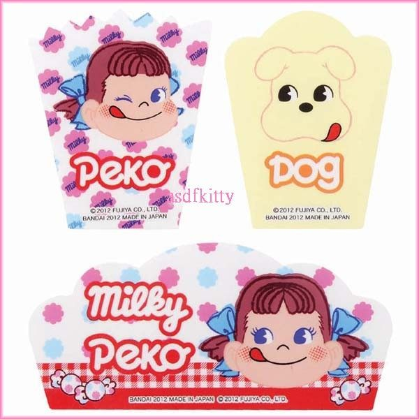 廚房【asdfkitty】不二家PEKO牛奶妹便當菜隔板/蛋糕裝飾板-可微波-日本製