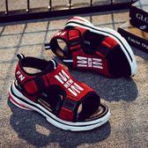 男童涼鞋2018新款男孩韓版學生夏季女童防滑沙灘鞋中大童兒童涼鞋   初見居家