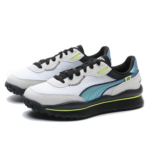 PUMA 休閒鞋 STYLE RIDER PETROL SPILL 灰白 螢光綠 變色龍 情侶鞋 男女 (布魯克林) 37323701
