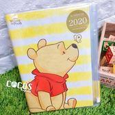 正版 迪士尼 小熊維尼 維尼熊 維尼 2020年曆記事本 行事曆 日誌手冊 COCOS C2020