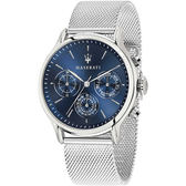 【Maserati 瑪莎拉蒂】/三眼鋼帶錶(男錶 女錶 手錶 Watch)/R8853118013/台灣總代理原廠公司貨兩年保固