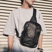 韓版男士胸包水洗皮休閒側背包腰包背包背包潮流軟皮小包潮包 美斯特精品