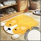 趴趴狗地墊(黃色柯基款) 吸水防滑腳踏墊 防塵門墊 玄關 臥室 浴室 居家佈置 交換禮物
