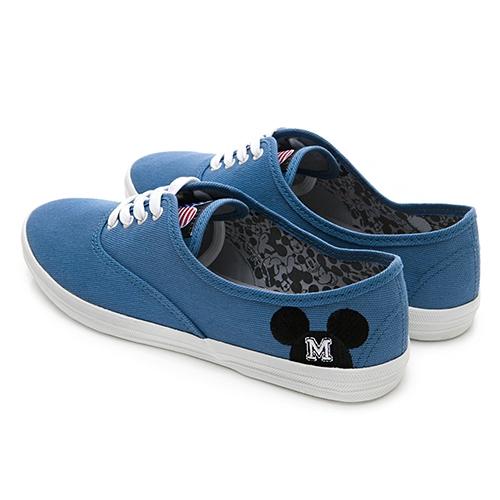 DISNEY 歡樂國度 側邊米奇綁帶休閒鞋-藍(DW3610)