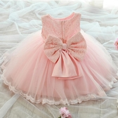 童裝兒童公主裙女童夏裝連身裙中大童寶寶周歲蓬蓬裙花童婚紗禮服【萬聖夜來臨】