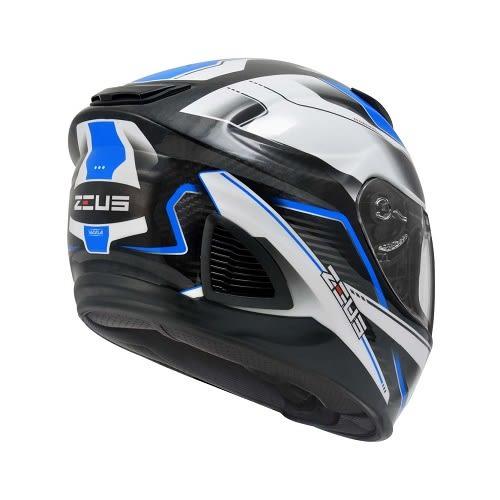 [東門城] ZEUS ZS1600 AK4 透明碳纖 藍 內遮陽鏡片 通風佳 排氣快 全可拆洗內襯 雙D釦 眼鏡溝設計