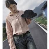 文藝棉麻襯衣女裝上衣 設計感小眾寬松長袖亞麻襯衫