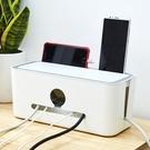 電線收納盒家用客廳桌面插盤充電器電源線安...