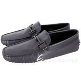 TOD'S Double T 金屬設計休閒豆豆鞋(男鞋/暗礦藍) 1820014-34