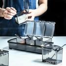 WUXIN調味罐收納盒香料家用防潮油鹽罐調料盒多格廚房用品鹽糖罐 夏季狂歡